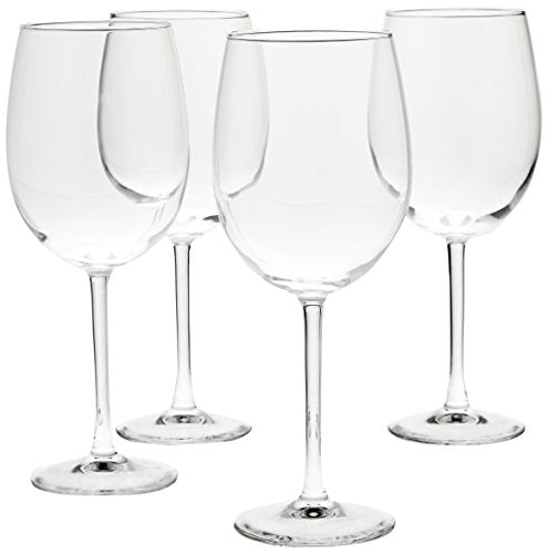 AmazonBasics All-Purpose Wine Glasses - 19-Ounce, Set of 4