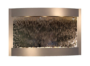 Calming Waters Water Feature with Silver Mirror (Silver Metallic)