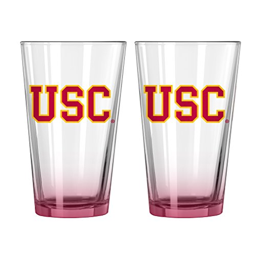 NCAA Elite Pint Glass, 16-ounce, 2-Pack