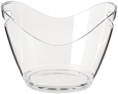 Agog - Ice Bucket Clear Acrylic 3.5 Liter Good for up to 2 Wine or Champagne Bottles Ice Bucket