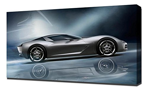Chevrolet Corvette Stingray Concept - Canvas Art Print - Wall Art - Canvas Wrap
