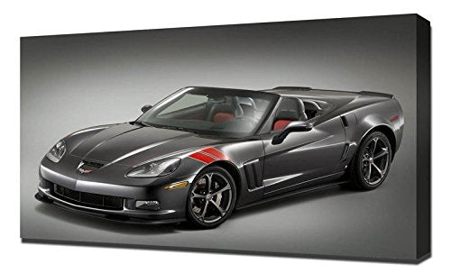 Accessorized Chevrolet Corvette Grand Sport Heritage - Canvas Art Print - Wall Art - Canvas Wrap