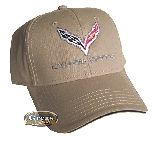 Corvette C7 Hat Tan (Includes Racing Decal)