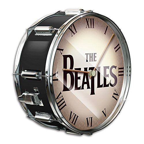 The Beatles Black Pearl Drum Wall Clock by The Bradford Exchange