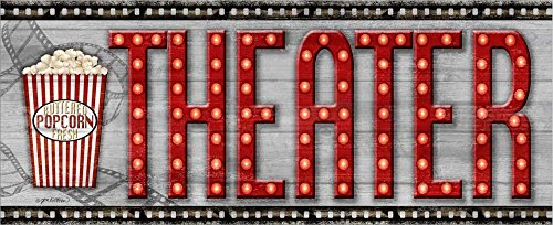 Movie Marquee Panel II (Theater) by Jen Killeen Laminated Art Print, 30 x 12 inches