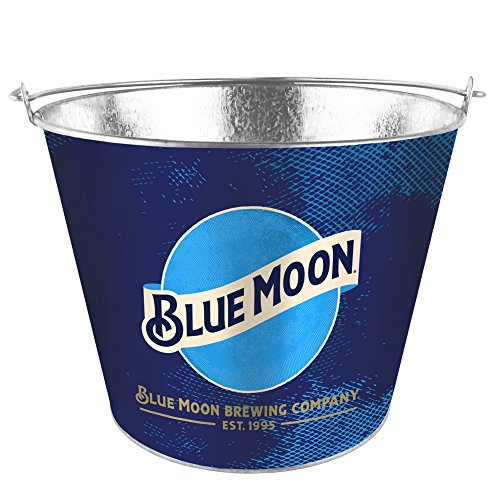 Boelter Brands Moon Metal Bucket, 5 Quarts, Blue