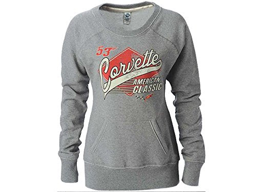 Corvette Sweatshirt Ladies American Classic Form Fitted w/ Long Sleeves Large