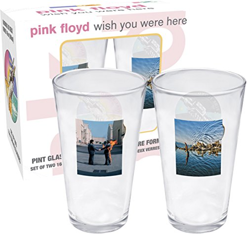 Aquarius Pink Floyd Wish You Were Here 2 Pint Glass Set