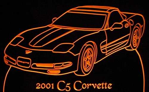 2001 Corvette C5 Acrylic Lighted Edge Lit 11-13