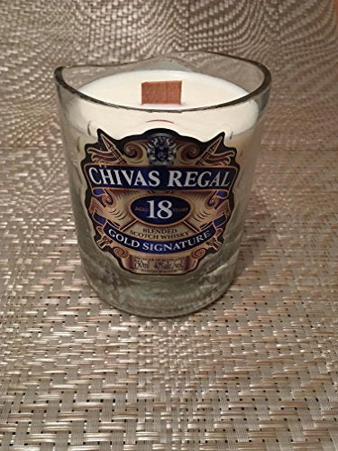 CHIVAS REGAL 18 Scotch Whiskey Soy Candle- Alcohol Liquor Bottle SCENTED