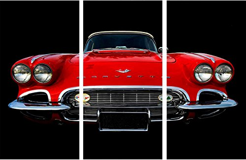 Watermark Collection 1958 Corvette  Print, Red