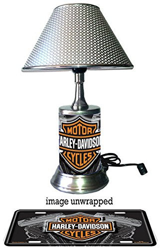 Harley-Davidson lamp with chrome shade, Vtwin