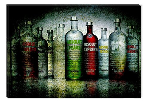 Glass Wall Art Acrylic Decor Absolut, 23.62 X 35.43 Inch Original Artwork the Ultimate Wall Art