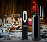 Automatic Electric Wine Bottle Opener for Restaurant & Kitchen. Automatical One Touch Wine Corks Opener. Corkscrew Cordless Battery Powered with Pourer and Foil Cutter. Chef's Best Choice.