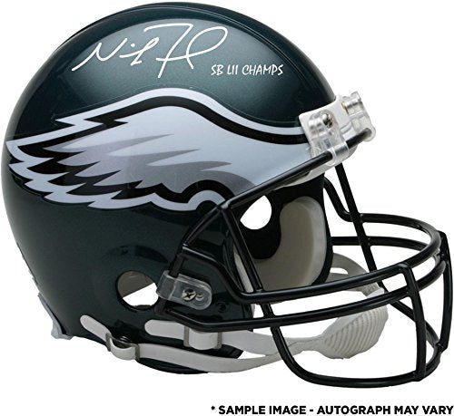 Nick Foles Philadelphia Eagles Super Bowl LII Champions Autographed Riddell Authentic Pro-Line Helmet with