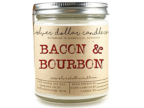 8oz Bacon & Bourbon Man Candle Hand poured 100% Soy Wax