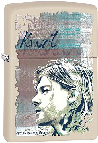 Zippo Kurt Cobain Pocket Lighter, Cream Matte