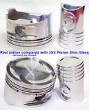 Automotive Piston SHOT GLASS - SINGLE - Billet Aluminum like Real Pistons