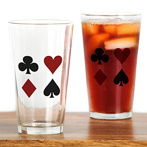 CafePress - Poker 4 Pint Glass - Pint Glass, 16 oz. Drinking Glass
