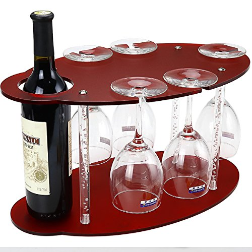 Tabletop Wine Glass Holder Frosted Acrylic Wine Racks Free Standing