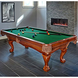 Brunswick 8 Foot Danbury Pool Table with Green Contender Cloth and Play Kit: Billiard Ball Set, Cues, and Accessories.