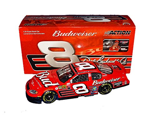 AUTOGRAPHED 2003 Dale Earnhardt Jr. #8 Budweiser Racing 4X TALLADEGA WINNER (Raced Version) Winston Cup Series Rare Vintage Signed Collectible 1/24 NASCAR Diecast Car