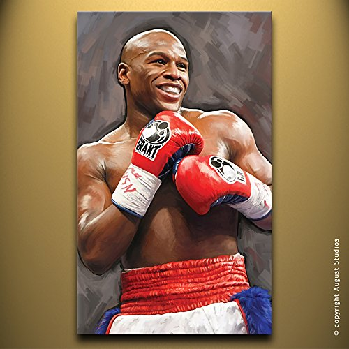 "FLOYD MAYWEATHER Signed Canvas Art Print (Large 30"" x 18"")"