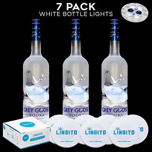 Bottle Light Glorifier, Wine Bottle Lights, Led Sticker, Led Lights For Bottles DIY (White 7 Pack)