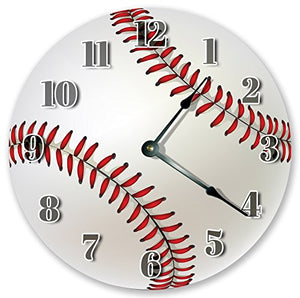 "10.5"" BASEBALL SPORTS CLOCK - Large 10.5"" Wall Clock - Home Décor Clock"