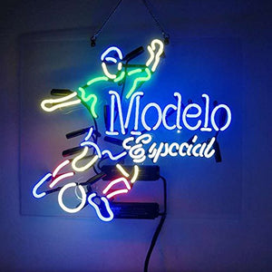 Christmas Gift Neon Signs Modelo Especial Soccer Real Glass Beer Bar Store Party Decor 19x15