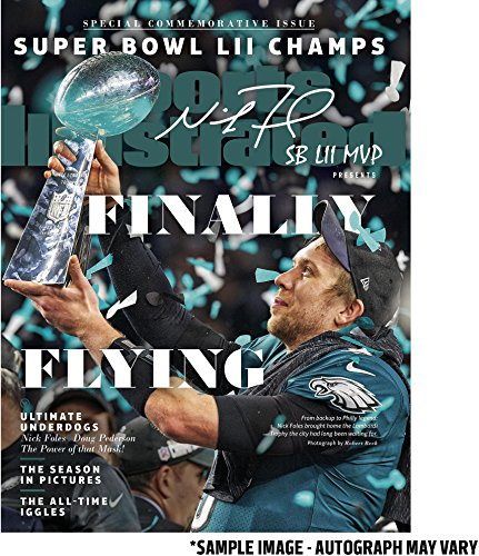 Nick Foles Philadelphia Eagles Super Bowl LII Champions Autographed February 15, 2018 Sports Illustrated Magazine with