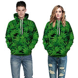 Bestale 3D Smoking Weed Marijuana Leaf Print Addicted Pullover Hoodie For Teen Boy or Girls