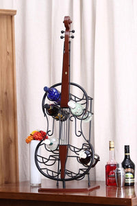 Bass wine rack. Ou shi, wrought iron wine frame. The side table
