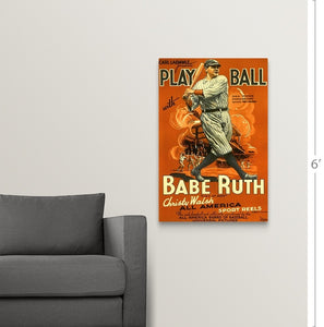 Collectible Babe Ruth, Play Ball canvas print wall art