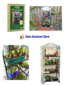 4-Tier Mini Greenhouse Plants Seeds Garden Grow Indoor Outdoor Flowers Fruit New - Dans Awesome Store