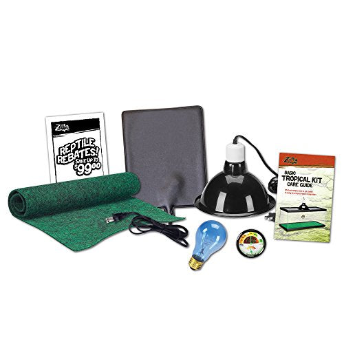 Zilla Reptile Starter Kit 10 with Light and Heat, Tropical - Dans Awesome Store