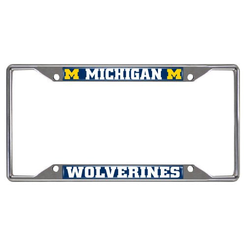 NCAA University of Michigan Wolverines Chrome License Plate Frame - Dans Awesome Store