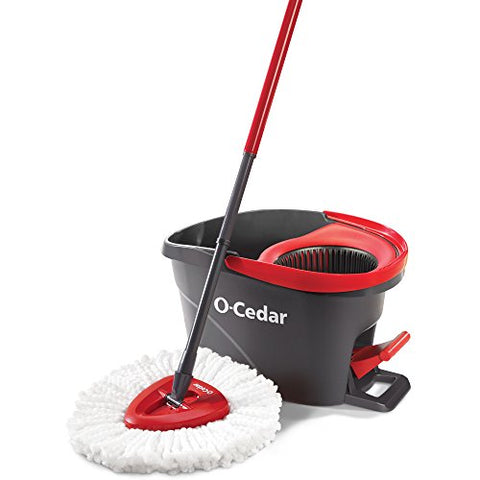 O-Cedar EasyWring Microfiber Spin Mop and Bucket Floor Cleaning System - Dans Awesome Store