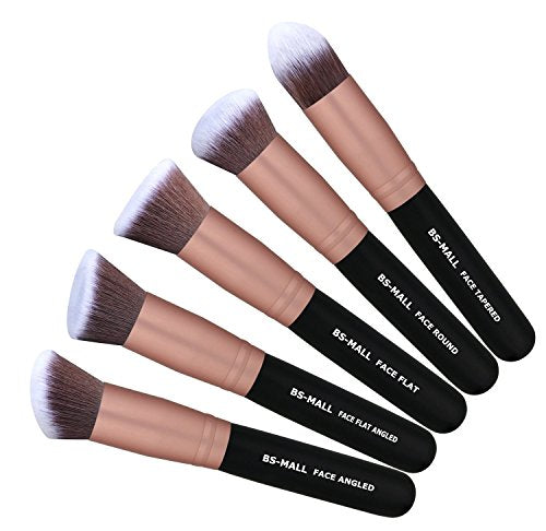 14 Piece Synthetic Foundation Powder Concealers Eye Shadows Silver Black Makeup Brush Sets(Rose Golden) - Dans Awesome Store