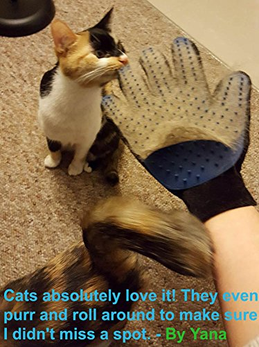 Pet Hair Remover Glove - Gentle Pet Grooming Glove Brush - Deshedding Glove - Massage Mitt with Enhanced Five Finger Design - Perfect for Dogs & Cats with Long & Short Fur - 1 Pack (Right-hand) - Dans Awesome Store