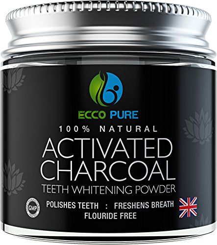 Activated Charcoal Natural Teeth Whitening Powder | Proven Safe For Enamel | Higher Efficiency Than Charcoal Toothpaste, Strips, Kits, & Gels - Dans Awesome Store
