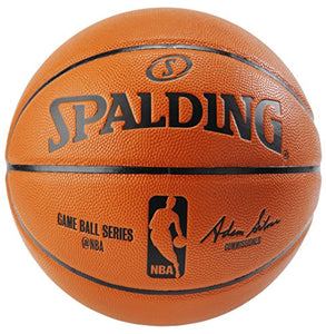 Spalding NBA Replica Indoor/Outdoor Game Ball, Orange, Size 7/29.5-Inch - Dans Awesome Store