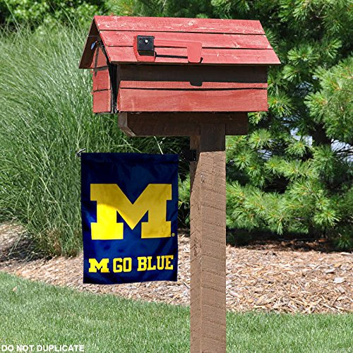 Michigan Wolverines Go Blue Garden Flag and Yard Banner - Dans Awesome Store