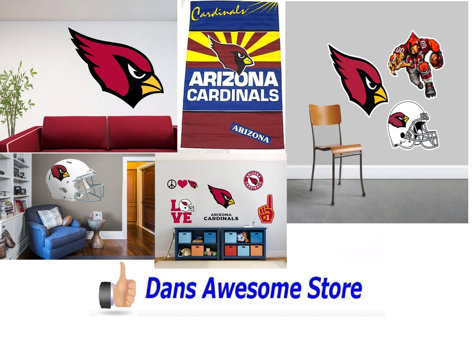 Arizona Cardinals Wall - Dans Awesome Store