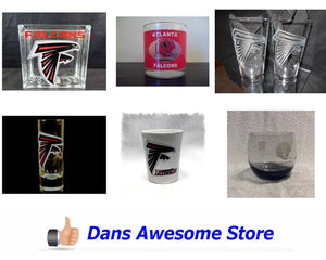 Atlanta Falcons Glass - Dans Awesome Store