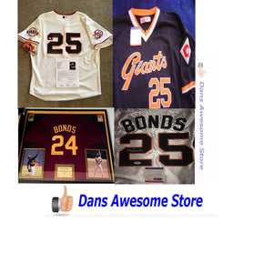 Barry Bonds Autographed Jersey Home Run Record King HOF All Star  MLB - Dans Awesome Store