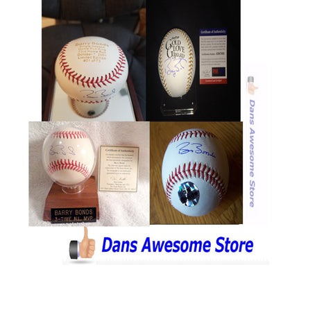 Barry Bonds Autographed Baseball Home Run Record King HOF All Star MLB - Dans Awesome Store