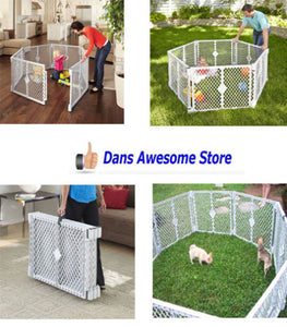 Big Tall Play Yard Playpen Pet Dog Child Baby Secure Enclosure Gate Large Pen - Dans Awesome Store