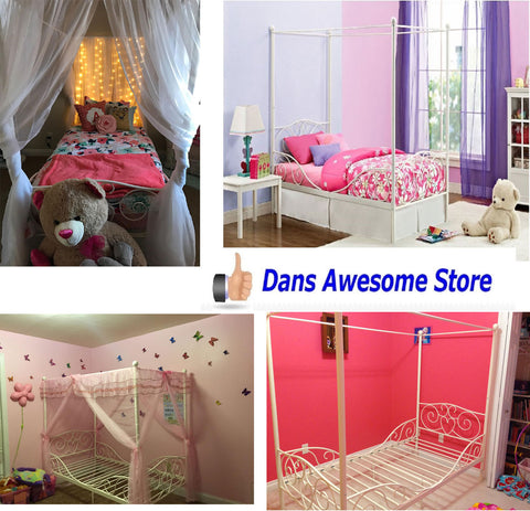 Canopy Metal Frame For Twin Size Bed Heart Daughter Bedroom American Girl New - Dans Awesome Store
