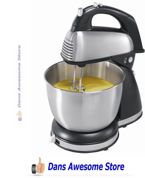 Classic Stand Mixer Hamilton Beach 6 Speed Kitchen Cooking Dough Bread Cake New - Dans Awesome Store